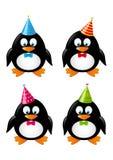 套滑稽的企鹅 免版税库存图片