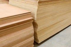 套建筑大厦的木杉木木材 库存照片