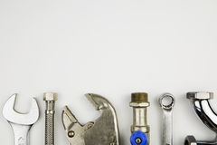 套水管工工具 免版税库存图片
