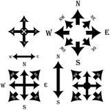 套黑箭头 也corel凹道例证向量 库存图片