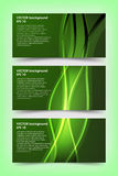 套绿色横幅模板 库存图片