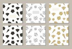 套3创造性的盖子或普遍卡片 库存例证