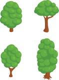 套4个等量结构树 库存照片