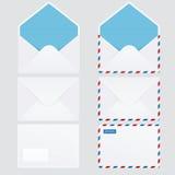 套6个光滑的信包 免版税库存照片