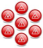 套7个普遍的按钮-注意 免版税库存照片