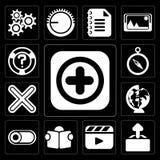 套Add,加载,图象播放机,读书,开关,全世界, Mu 库存例证