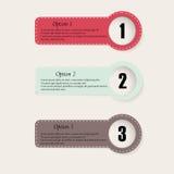 套colourfull infographics选择横幅 免版税库存照片
