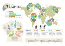 套infographic元素。视觉统计信息 免版税库存图片