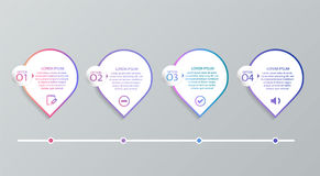 套infographic模板 向量例证