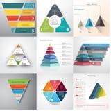 套infographic的几何形状 皇族释放例证