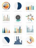 套infographics元素 免版税库存图片