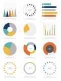 套infographics元素 免版税图库摄影