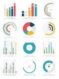 套infographics元素 库存图片