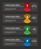 套infographics元素 库存照片
