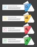 套infographics元素 免版税库存照片