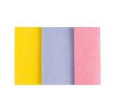 套Microfiber在白色的清洁毛巾 免版税库存图片