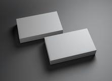 2套namecards水平的b 免版税库存照片