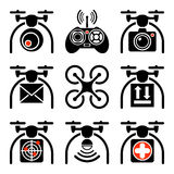 套quadrocopters象 免版税库存图片