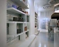 奢侈品商店室内设计与Contem提示的艺术装饰样式  库存例证