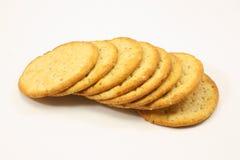 奢侈的薄脆饼干 库存照片