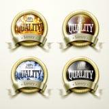 奢侈金和首饰标签设计 向量例证