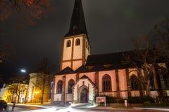 奥伊斯基兴nrw德国在冬天夜 库存照片