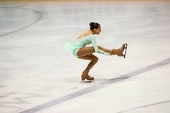奥伦堡俄罗斯26 03 2016年:竞争女孩花样滑冰运动员 图库摄影