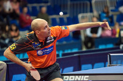 奥伦堡,俄罗斯- 03 04 2015年:乒乓球竞争 库存图片