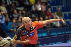 奥伦堡,俄罗斯- 03 04 2015年:乒乓球竞争 免版税库存照片