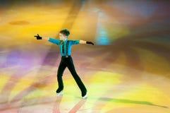 奥伦堡,俄罗斯- 26 03 2016年:儿童溜冰者 库存照片