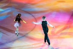 奥伦堡,俄罗斯- 26 03 2016年:儿童溜冰者 免版税库存图片