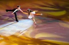 奥伦堡,俄罗斯- 26 03 2016年:儿童溜冰者 免版税库存照片