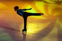 奥伦堡,俄罗斯- 26 03 2016年:儿童溜冰者 图库摄影