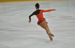 奥伦堡,俄罗斯- 26 03 2016年:女孩花样滑冰运动员 库存照片