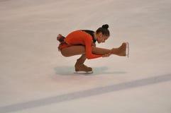 奥伦堡,俄罗斯- 26 03 2016年:女孩花样滑冰运动员 库存图片