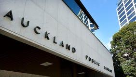 奥克兰公立图书馆-新西兰 库存照片