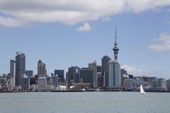 奥克兰市和港口,新西兰 库存照片