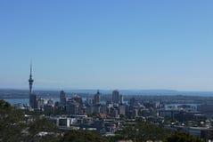 奥克兰市地平线、新西兰& x27; s北岛 免版税库存照片