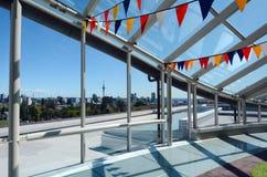 奥克兰市地平线当看法低谷每大玻璃窗 库存照片