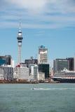 奥克兰市地平线,新西兰看法  库存照片