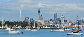奥克兰市地平线-新西兰全景  图库摄影