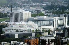 奥克兰市医院鸟瞰图在奥克兰NZ 库存照片
