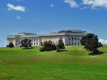 奥克兰战争纪念建筑博物馆 免版税库存照片