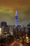 奥克兰新的天空塔西兰 免版税图库摄影