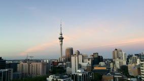 奥克兰新西兰地平线Timelapse  股票视频