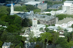 奥克兰新西兰NZ大学鸟瞰图  库存图片