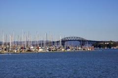 奥克兰桥梁港口 图库摄影