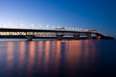奥克兰桥梁港口 库存图片