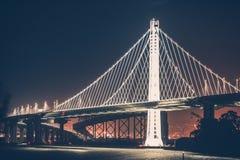 奥克兰海湾桥梁 免版税库存照片