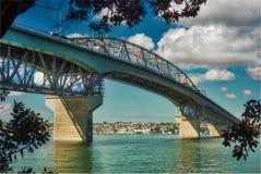 奥克兰港口桥梁,新西兰 免版税库存图片